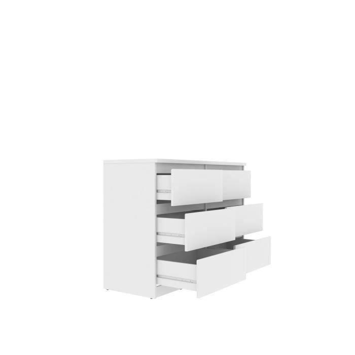 COMMODE DE CHAMBRE NATTI Commode de chambre - style contemporain blan