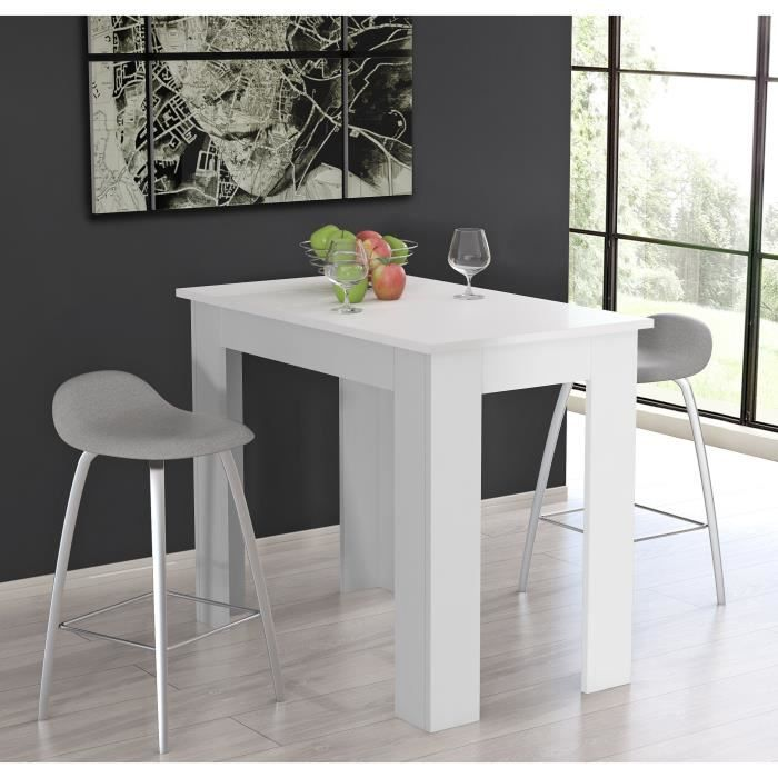finlandek table manger tietti 4 personnes 120x70 cm blanc mat achat vente table manger. Black Bedroom Furniture Sets. Home Design Ideas