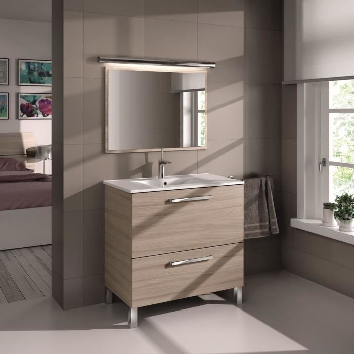 urban ensemble meuble sous vasque 80 cm miroir d cor. Black Bedroom Furniture Sets. Home Design Ideas