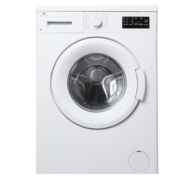 continental edison ll712w lave linge frontal 7kg a electrom nager. Black Bedroom Furniture Sets. Home Design Ideas