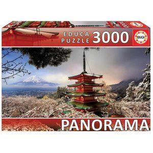 PUZZLE EDUCA  3000 mont fuji et pagod