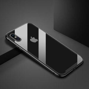 iphone xs coque protection metal effet metalique n