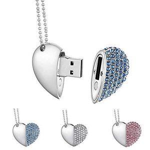 Garrulax Cle USB Premium imperm/éable cl/é USB2.0 32Go Cles USB Type de Coeur Diamant Stockage de donn/ées Haute Vitesse Memory Stick Pendrive 16 Go 8Go