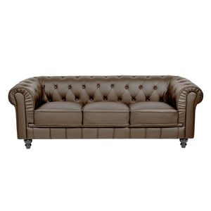 Canap chesterfield achat vente canap chesterfield for Divan 3 places elran