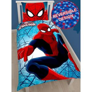 housse de couette 70x140 spiderman achat vente housse de couette 70x140 spiderman pas cher. Black Bedroom Furniture Sets. Home Design Ideas
