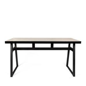 TABLE À MANGER SEULE Revel - Table à manger industrielle métal et bois