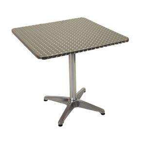 Table bistrot carrée alu 4 pieds fonte d\'aluminium plateau ...