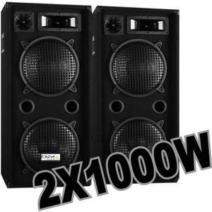 PACK SONO PACK 2000W avec 2 ENCEINTES 1000W .......PRIX 100%