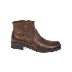 BOTTINE DONNAPIU' FEMME 9945EBANO MARRON CUIR BOTTINES