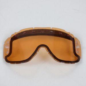 LUNETTES - MASQUE Visière écran double orange masque casque Smith Pi
