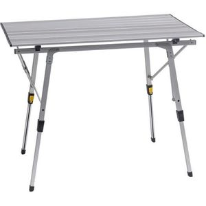 Table de camping 120x60x70cm gris aluminium table pliante poignée falttisch pique-table