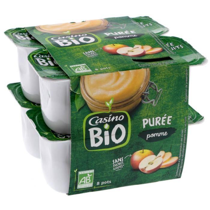 CASINO Purée Pommes Bio - 8X95G
