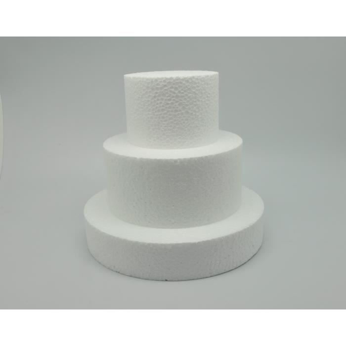 Gâteau de polystyrène Pièce montée Ø 20/ 15/ 10 cm - LePolystyrène Blanc