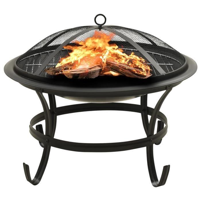 &VINTAGE&7995Luxueux Magnifique Foyer et barbecue - Braséro d'extérieur charbon Chauffage Extérieur pour terrasse et Jardin avec tis