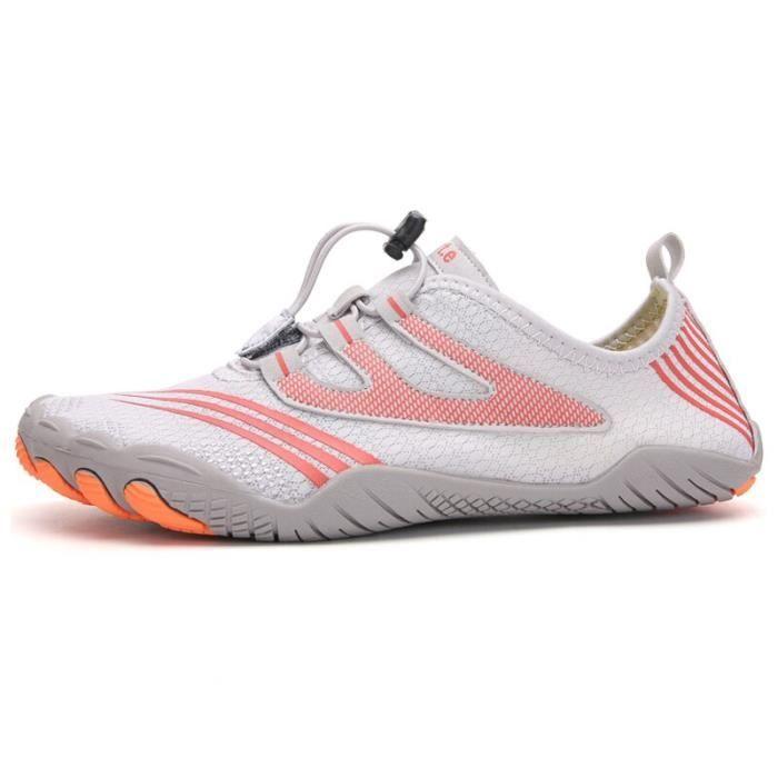 A088 pink 41 -Vanmie – chaussures de Sport aquatique pour hommes et femmes, baskets de plage, nu pieds pour la natation, taille 38 à