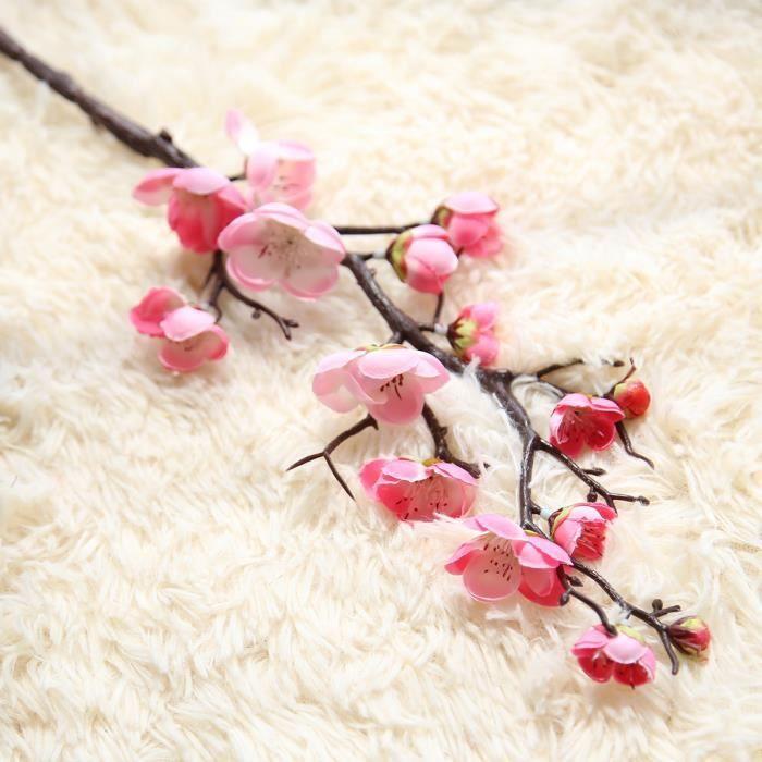 Fleur de fleur artificielle, Branches d'arbre, cerisier, prune et pêche, en soie de 60cm, bourgeon d'arbre à fleurs pour - 3