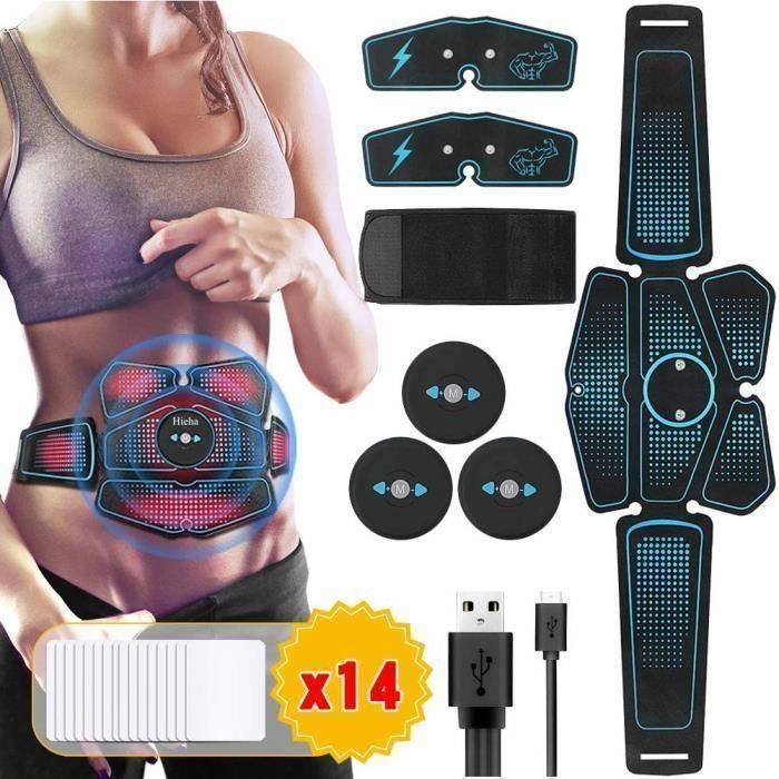 Electrostimulateur Musculaire USB charge,EMS 8 Ceinture Gobdominale Electrostimulation-Bras-Cuisse Muscle Forme d'exercice Fit