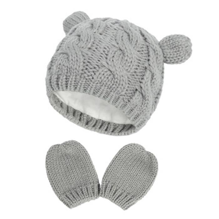 Bonnets bébé, bonnets tricotés, chapeaux automne et hiver, gants, vêtements, petites oreilles mignonnes