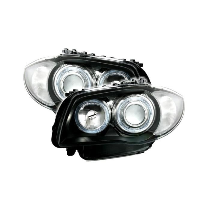 2 FEUX PHARE AVANT ANGEL EYES BMW SERIE 1 E87 E88 ET E81 E82