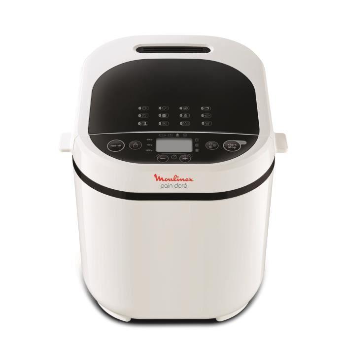 MOULINEX OW210130 Pain Doré Machine à pain 1 Kg, 12 programmes, Programme sans gluten, Pain maison, Pizza, Pâte, Blanc