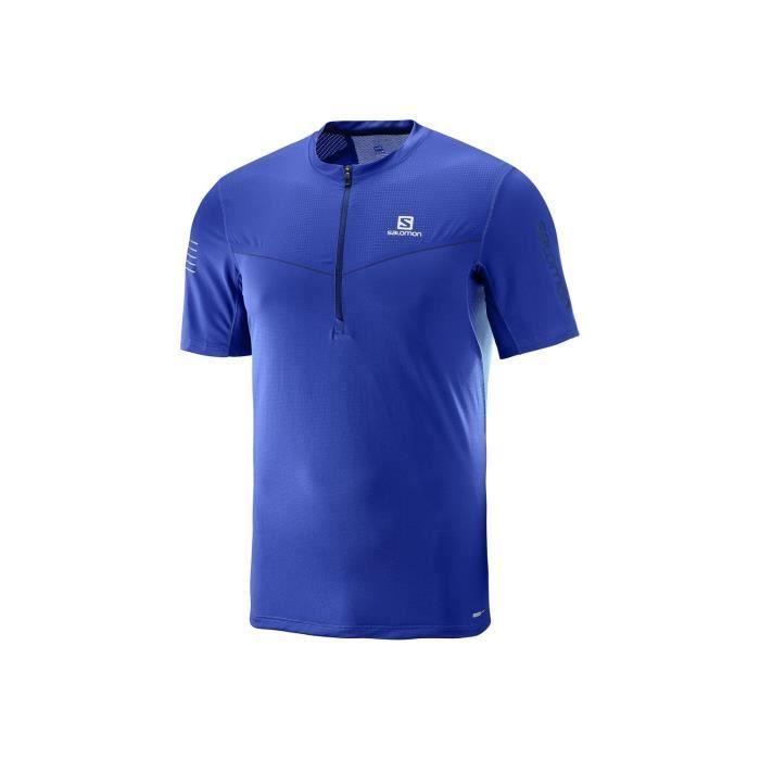 SALOMON T-shirt de running Fast Wing - Homme - Bleu