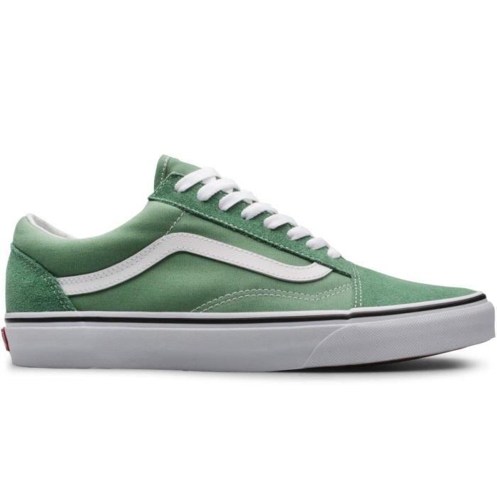 Baskets Vans Old skool shale green/true white VN0A3WKTG61