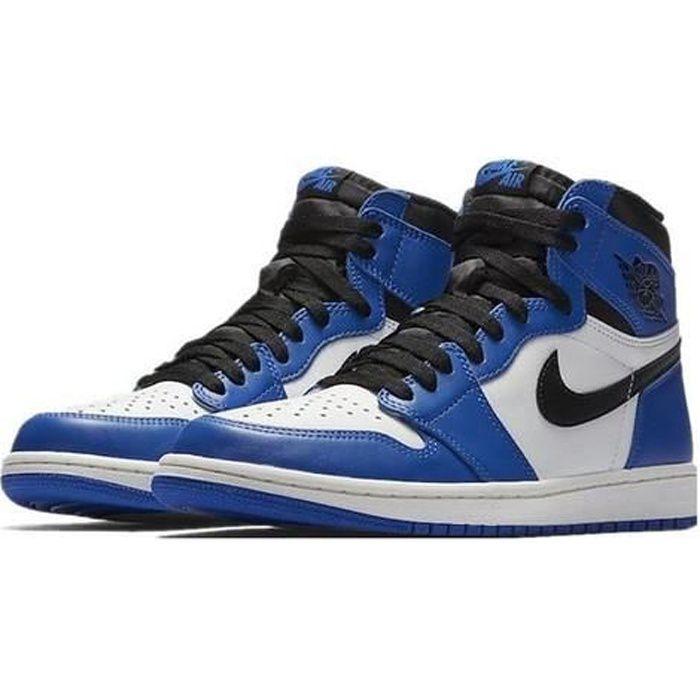 Airs Jordans 1 Retro High Game Royal 555088-403 Chaussures de Running pour Homme Femme Bleu Blanc