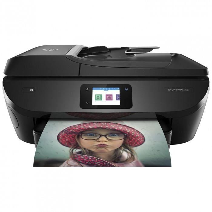 HP ENVY Photo 7830 - Imprimante Multifonction jet d'encre couleur 4-en-1 (USB 2.0 / Ethernet / Wi-Fi)