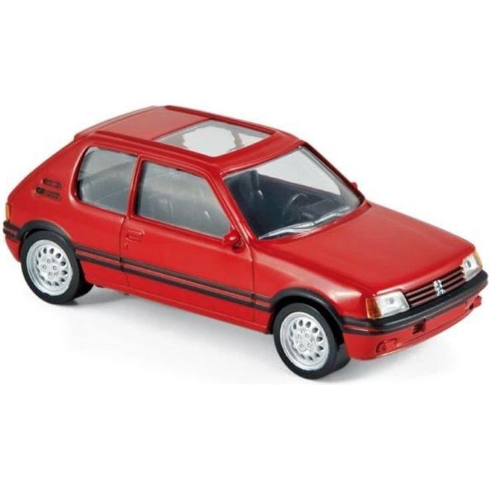 Miniatures montées - Peugeot 205 GTi rouge - gamme Jet car 1986 1/43 Norev