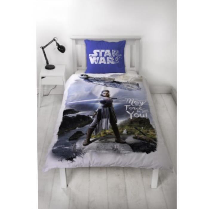 Housse de couette Star Wars Flanelle 100% coton 140x 200 cm (unique - bleu)