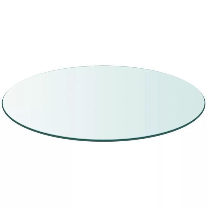 Dessus de table Plateaux de table ronde en verre trempé 800 mm