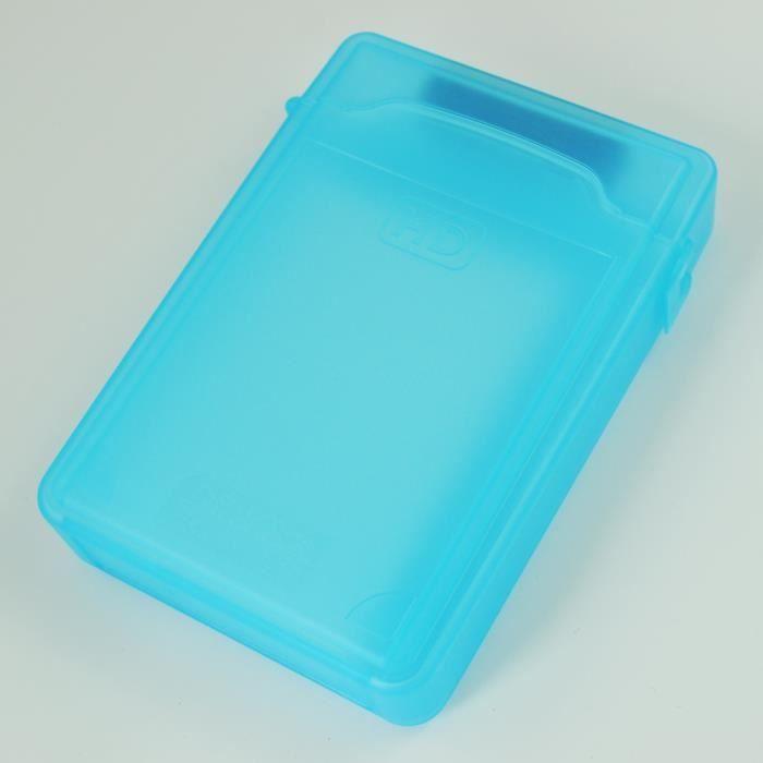 3.5Inch boite de rangement pour disque dur Ide Sata Hdd (bleu)
