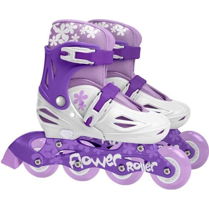 STAMP Roller en ligne Enfant Fille Violet Ajustables 30 à 33