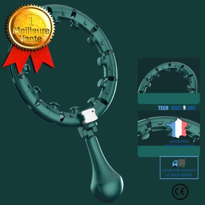 Cerceau d'Exercice de Fitness Intelligent Cercle Amincissant à Taille Réglable Équipement Sport Comptage automatique ne tombera pas