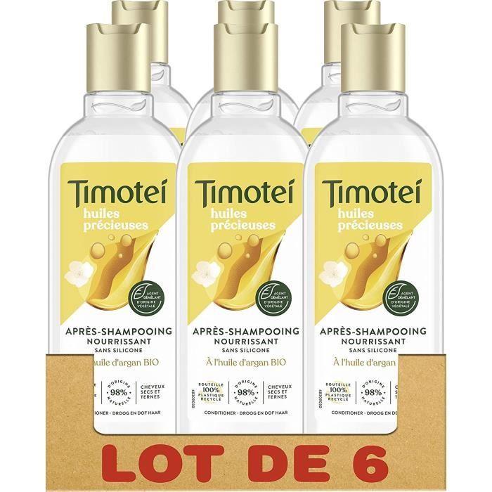 [Lot de 6] TIMOTEI Après-shampoing huiles précieuses - 300 ml
