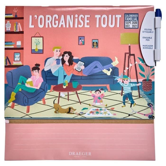L'ORGANISE TOUT CALENDRIER FAMILIAL POUT TOUTE LA FAMILLE