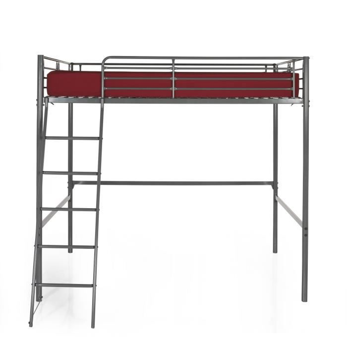 tonny mezzanine 140x200 achat vente lit mezzanine. Black Bedroom Furniture Sets. Home Design Ideas