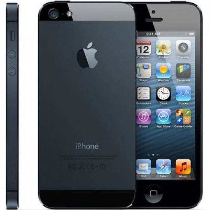 iphone 5 16go noir achat smartphone pas cher avis et. Black Bedroom Furniture Sets. Home Design Ideas