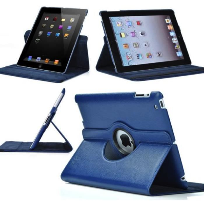 housse coque etui en cuir ipad 2 3 4 rotative 360 film stylet prix pas cher cdiscount. Black Bedroom Furniture Sets. Home Design Ideas