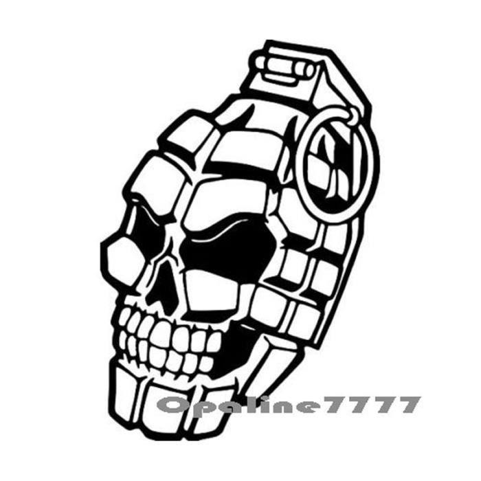 STICKER SKULL TETE DE MORT 1/% CASQUE HONDA YAMAHA DUCATI SUZUKI KAWASAKI TRIUMPH