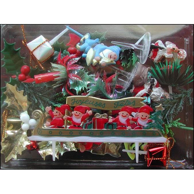 Decoration buche de noel achat vente decoration buche for Decoration buche de noel