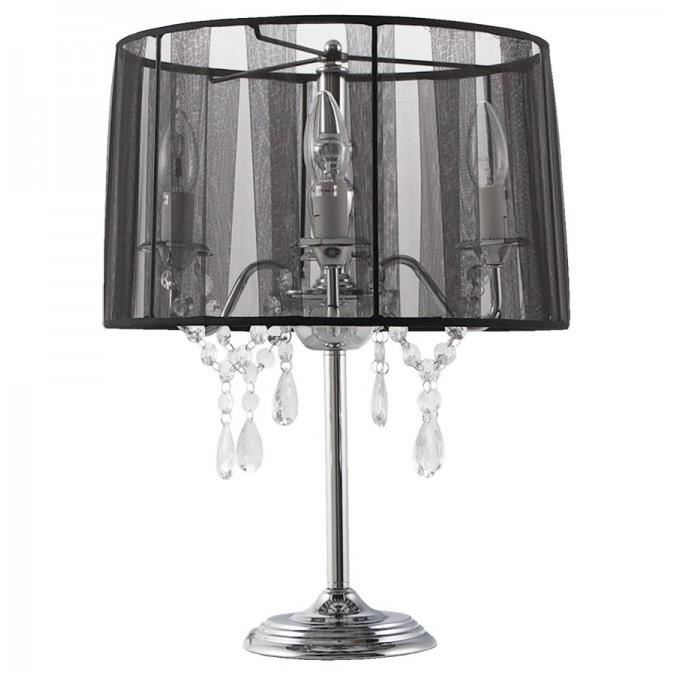 lampe de chevet abat jour design simple noir achat. Black Bedroom Furniture Sets. Home Design Ideas