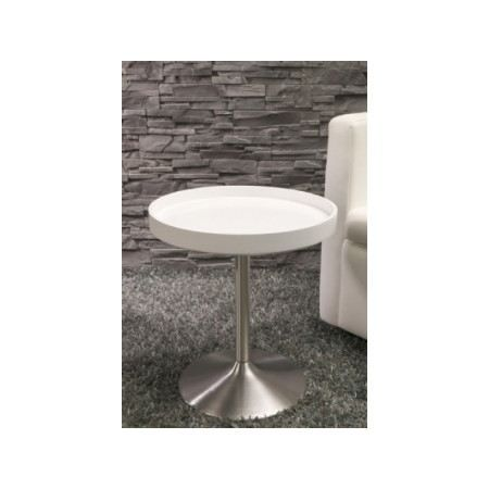 Table d 39 appoint design ronde clara achat vente bout de - Table d appoint ronde ...