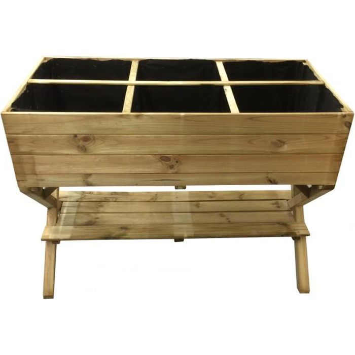 potager pied crois achat vente carr potager table potager pied crois cdiscount. Black Bedroom Furniture Sets. Home Design Ideas