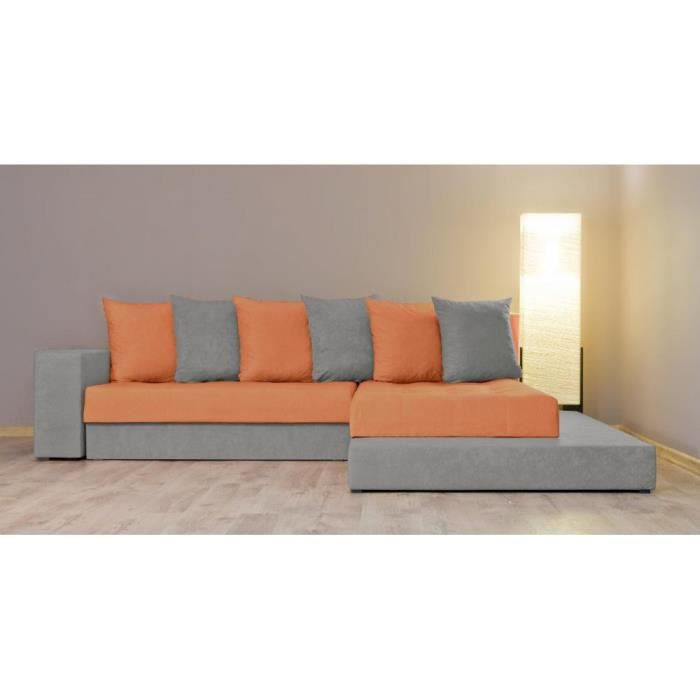 Justhome orkus i canap d 39 angle l x l 185 x 252 cm for Canape d angle orange