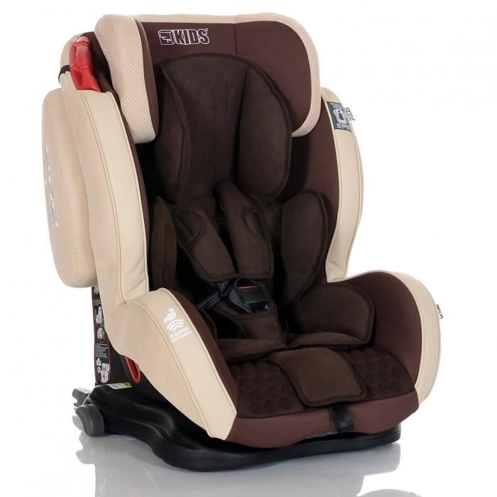 si ge auto isofix saturn ifix bebe 9 36 kg beige marron avec system protection laterale sps et. Black Bedroom Furniture Sets. Home Design Ideas