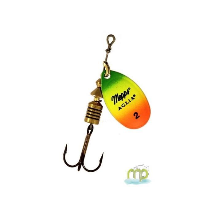 Neuf Cuiller Mepps Aglia Chartreuse Fluo