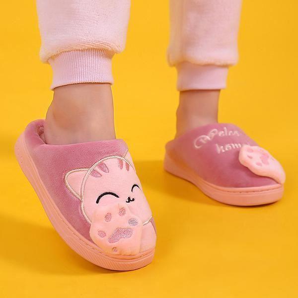 zicai Emoji Peluche Pantoufles Pantoufle de Dessin Anim/é pour Les Gar/çons Fille Femmes Hommes Chaussures de Maison dhiver Int/érieur Slippers Taille 35-44