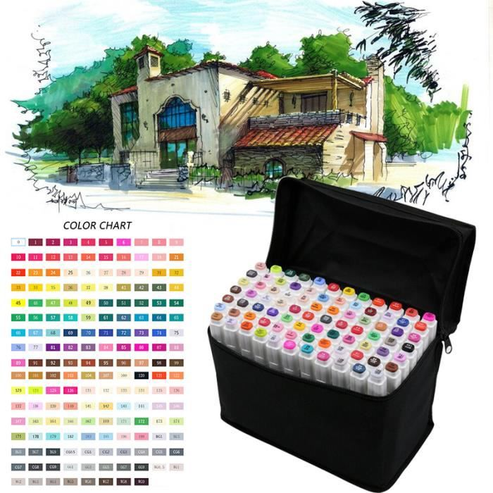 MARQUEUR TOUCHFive Ensemble de marquage d'art de 80 couleur