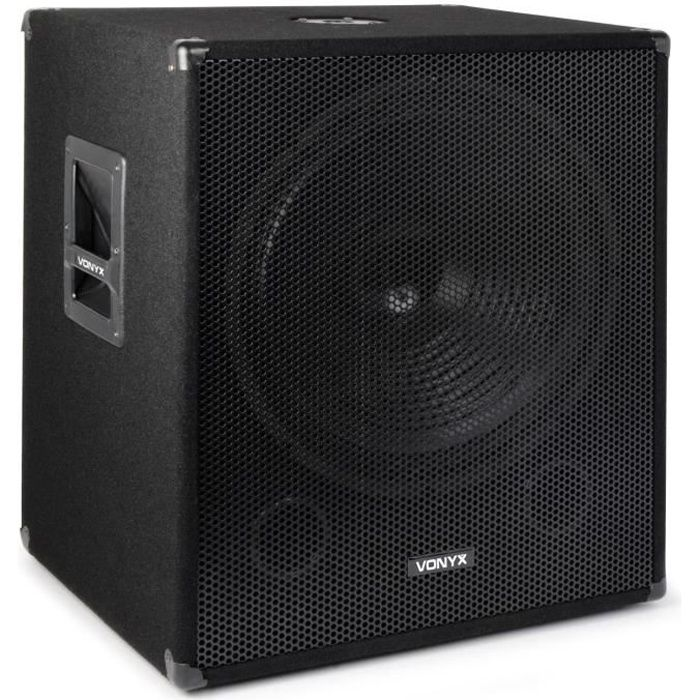 caisson de grave 1000w dj subwoofer 18 basses enceinte. Black Bedroom Furniture Sets. Home Design Ideas
